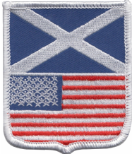 Scotland & United States of America USA Friendship Flag Embroidered Patch A246